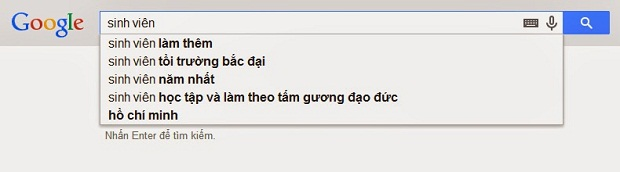 Sử dụng Google Suggest