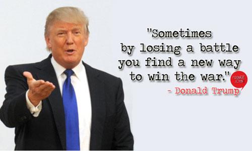 Đôi khi, bằng cách thua một trận đấu bạn sẽ tìm ra cách để thắng cả cuộc chiến.