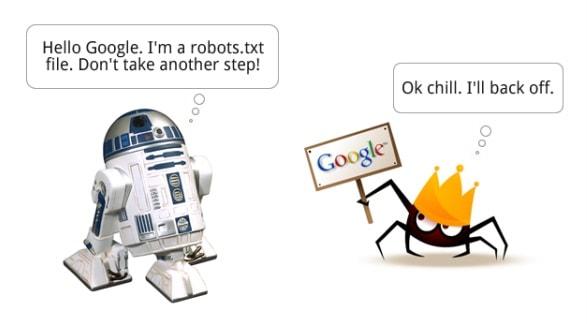 tập tin robots.txt không hoạt động ảnh hưởng đến đánh giá của Google