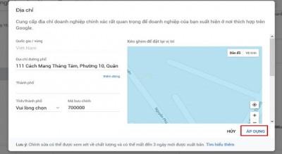 Hướng dẫn vượt bước Cập Nhật Thông Tin trên Google Business
